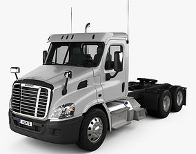 3D model Freightliner Cascadia Day Cab Tractor Truck 2007