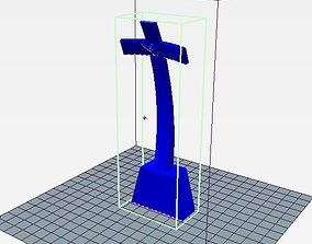 Papas cross monument Vitoria Brazil 3D print model