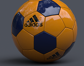soccer ball football 3D asset low-poly