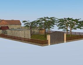 Rural household 3D model