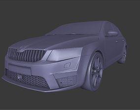 Skoda Octavia RS Game model 3D asset low-poly
