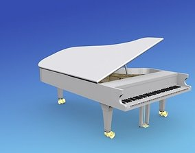 3D model rigged Steinway Concert Piano V03