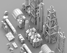Infrastructure and Objectives Pack 02 3D print model