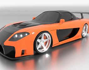 Mazda RX-7 Veilside 3D model