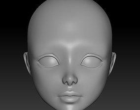 head doll 3D printable model