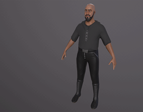 Lowpoly 3D Game Ready Rigged Character animated low-poly