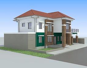 House 3D model door cement