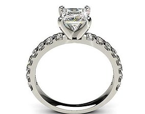 3D printable model The Princess Cut Diomand Ring