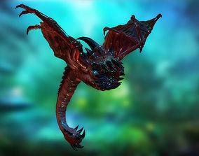 Flying worm 3D model