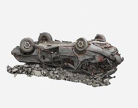 3D model broken car industrial