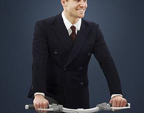 caucasian 3D Vince an Elegant Man Riding A Bicycle Suit