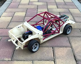 3D printable model 1-10 RC AE86 Chassis