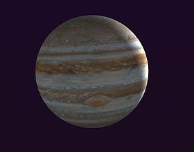 Jupiter Low-Poly Planet 3D asset