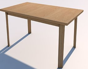 3D model Low Poly UV Mapped Desk Table