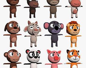 3D model Cartoon Animal Character Pack