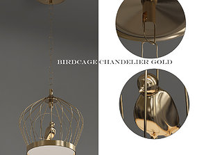 Birdcage Chandelier White 3D model