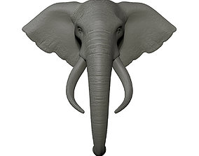 Elephant Head Trophy Wall Mount 3D print model