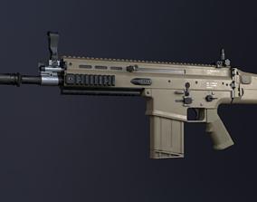 3D model SCAR-H Assault Rifle