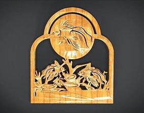 3D model Unique Window Ornament with Fish Ornament motif