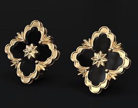 Stylish earrings in an old style 504 3D print model