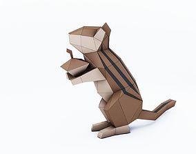 3D printable model Lowpoly chipmunk