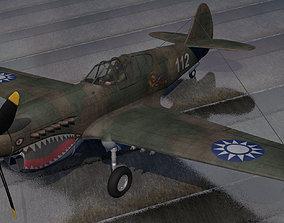 3D Curtiss P-40E Warhawk