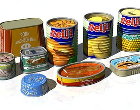 3D Food Canning 9items
