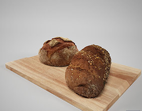 3D model Bread and Cutting board
