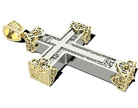 necklaces Christian cross 3D printable model