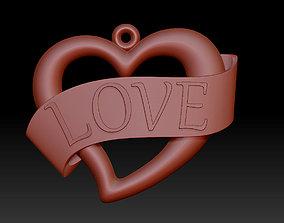 3D print model Heart Pendant valentine pendant