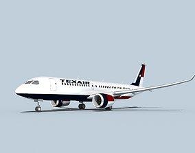 Bombardier CS100 Texair 3D model