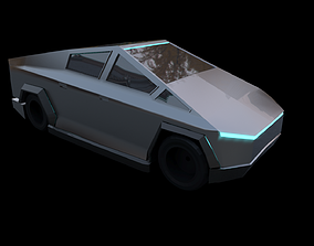 racing Tesla Cyber truck 3d Model