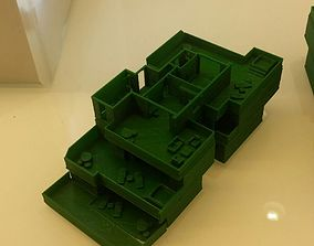 Half-Villa with mini furniture set 3D printable model