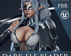 3D asset Dark Elf Blader - Game Ready