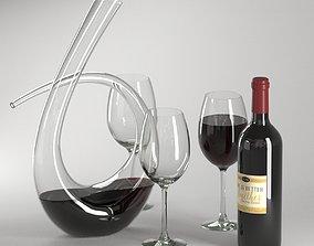 wine set 01 3D model