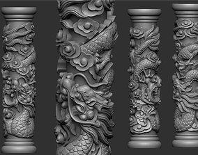 3D print model dragon pillar
