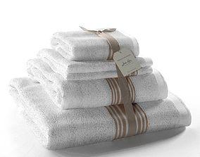 3D model Set of Towels Grand Hotel Lin