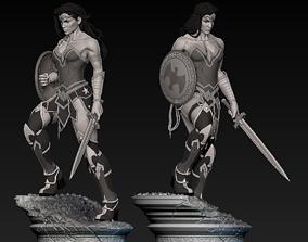 warrior Wonder Woman Statue 3D print model