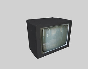 low poly television 3D asset