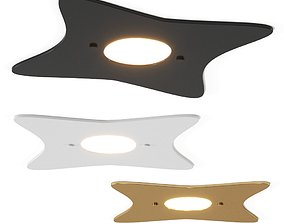 Metal Lux by MANTA LED glass ceiling light Collection 3D