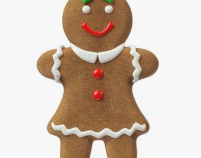 gingerbread cookie 01 3D model