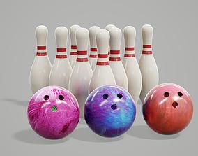 3D asset Bowling Balls and Pins