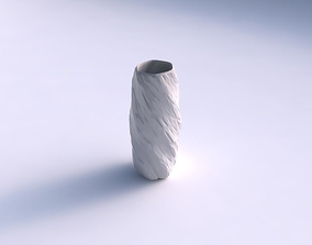 Vase hexagon with twisted rocky bulges 3D print model