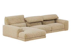 3D Upside corner composition sofa