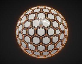 Sci-fi Hexa Sphere pentagon 3D
