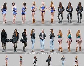 6 Realistic Female Characters Vol 1 3D model