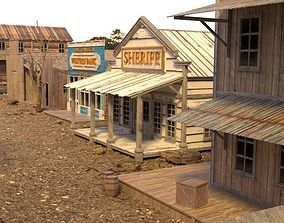 WILD WEST SHERIFF OFFICE 3D asset