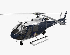 3D model AS-350 Baltimore County Police