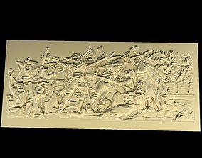 3D printable model Triumphal Arch bas-relief champs-elysee