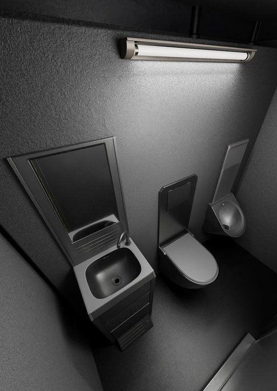 Public Toilet Version 3 (Blender-2.93 Cycles Render 7)